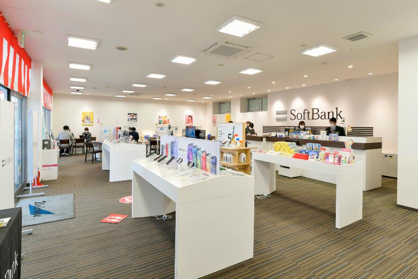 softbank店内